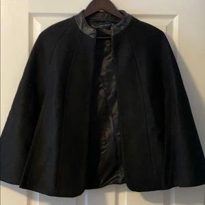 Zara black cape coat